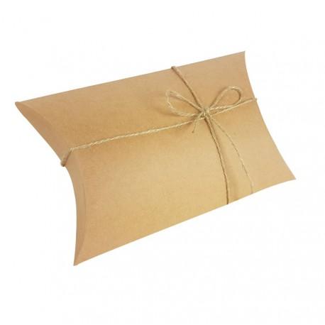 25 pochettes cadeaux berlingot en kraft brun 14x22x5cm - 6994