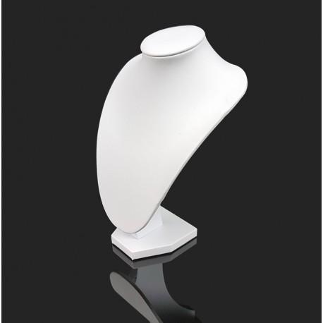 Petit buste en simili cuir blanc 21cm - 6996