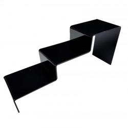 Support escalier en acrylique noir 3 marches - 7300