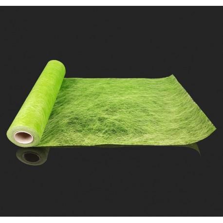 Chemin de table intissé de couleur verte 10m - 7327