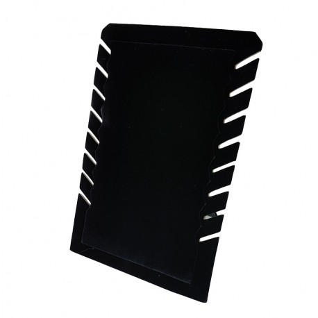 Porte colliers repliable en velours noir - 7328