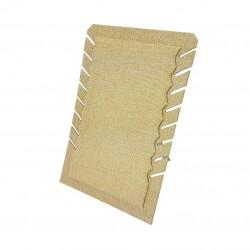 Porte colliers repliable en toile de jute beige - 7332