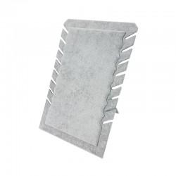 Porte colliers repliable en velours gris - 7329