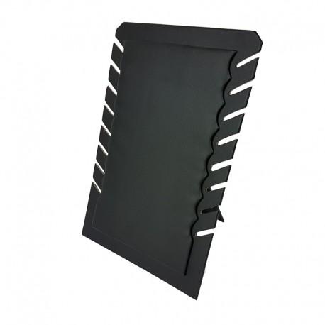 Porte colliers repliable en simili cuir noir - 7331