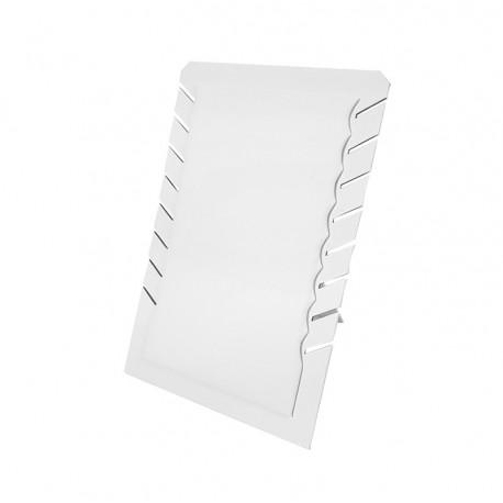 Porte colliers repliable en simili cuir blanc - 7330