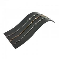 """Support bijoux en acrylique noir style """" toboggan """" pour chaînes, colliers et montres- 7337"""