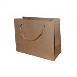 12 petits sacs cadeaux papier kraft brun naturel 11x14x6cm - 7345