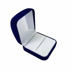 12 écrins en velours bleu roi pour bague ou pour boucles d'oreilles - 10060x12