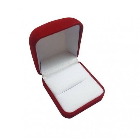 12 écrins en velours rouge pour bague ou pour boucles d'oreilles - 10061x12