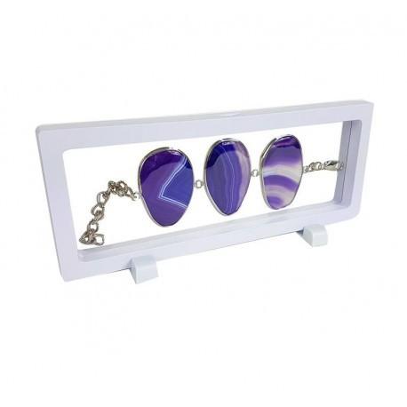Lot de 10 présentoirs à bracelet ou collier blanc 23x9cm - 6853x10