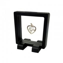 Présentoir à bijoux flottant noir 7x7cm - 7361