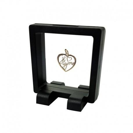 Lot de 10 présentoirs à bijoux flottants noirs 7x7cm - 7361x10