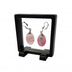 10 porte bijoux effet suspendu de couleur noire 9x9cm - 7362x10