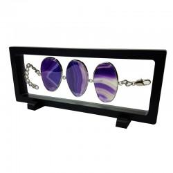 Présentoir à bracelet ou collier flottant noir 23x9cm - 7363