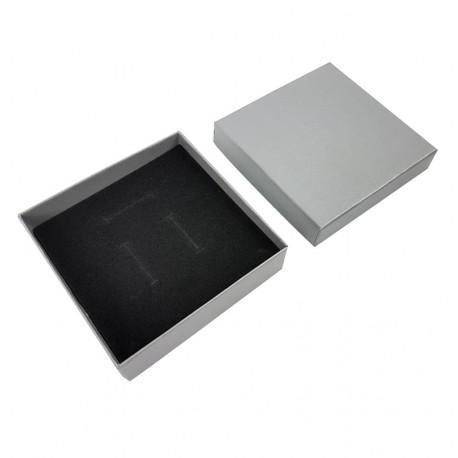 24 écrins pour bijoux gris unis pour parures - 10011