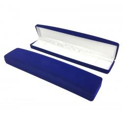 1 écrin en velours bleu roi pour bracelet ou chaîne - 10069