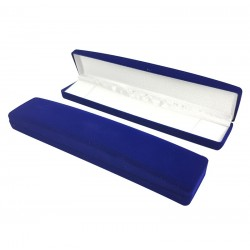 Lot 12 écrins en velours bleu roi pour bracelet ou chaîne - 10069x12