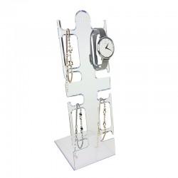 Présentoir bijoux pour montres et bracelets transparent - 4476