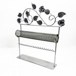 Porte bijoux en métal argenté pour bracelet et montre - 2718