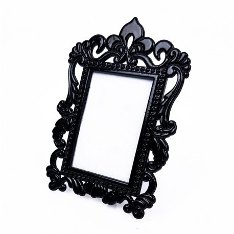 Mini cadre photo noir décor baroque pour affichage prix - 7375