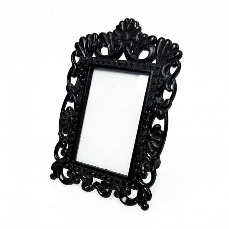 Mini cadre photo noir décor fleur pour affichage prix - 7374