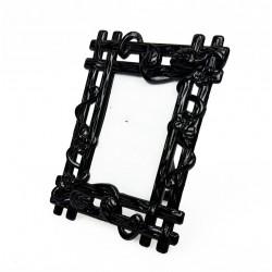 Mini cadre photo noir décor bois pour affichage prix - 7376