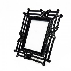 Mini cadre photo noir décor papillon pour affichage prix - 7377