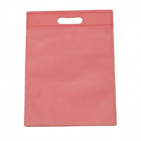 12 sacs non-tissés rose clair uni - 7417