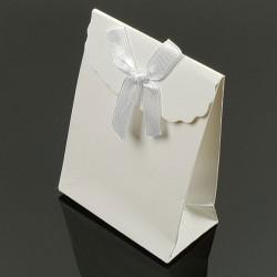 12 boîtes cadeaux à bijoux blanches 10.5x7.5x4cm - 7415