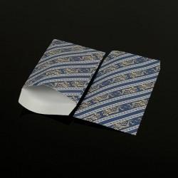 100 petits sachets cadeaux papier bleus 10x6cm motif baroque - 8044
