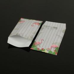 100 petits sachets cadeaux papier 10x6cm motif tropical - 8045