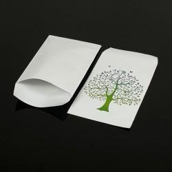 100 pochettes cadeaux 13.5x7cm motif arbre de vie - 8051