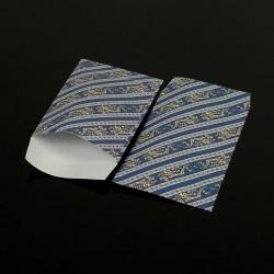 100 pochettes cadeaux bleus 13.5x7cm motif baroque - 8053