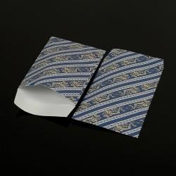 Lot de 100 sachets cadeaux bleus motif baroque 17x11cm - 8058