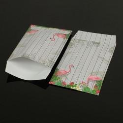 Lot de 100 sachets cadeaux gris motif tropical 17x11cm - 8061