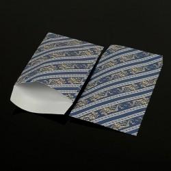 Lot de 100 pochettes cadeaux bleues 24x16cm à motif baroque - 8071