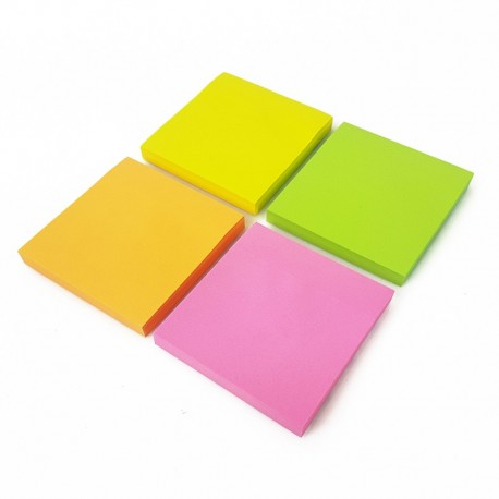 Lot de 4 blocs notes adhesives de 100 feuilles 4 couleurs - 7430