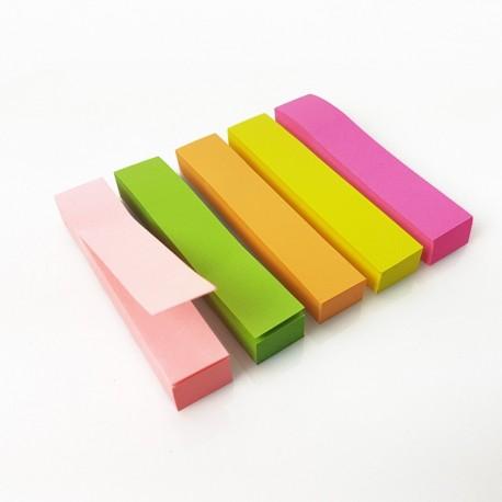 Lot de 5 blocs notes adhesives marque page de 90 feuilles 5 couleurs - 7431