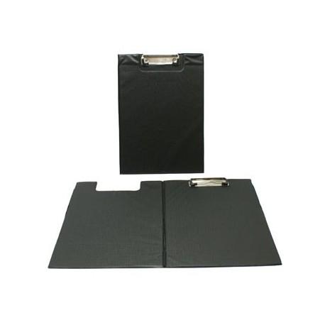 Porte document A4 noir avec pochette latérale - 7434