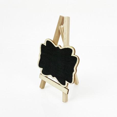 Petit chevalet avec étiquette en bois pour prix - 7439