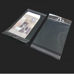 100 pochettes autocollantes perforées 10x13cm - 7447