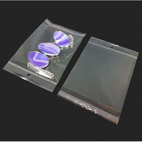 Lot de 100 pochettes autocollantes perforées 11.5x17.5cm - 7448