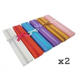 12 Écrins pour bracelets 5 couleurs à pois - 3564