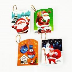 Lot de 40 étiquettes cadeaux de Noël pour décoration sac - 7456
