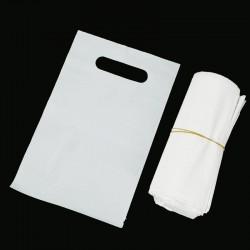 100 petits sachets réutilisables en plastique 15.5x24cm - 7452