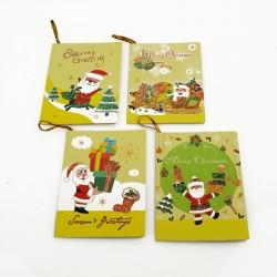 Assortiment de 40 étiquettes cadeaux jaunes motif de Noël - 7463