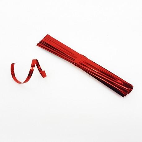 750 attaches pour sachet cellophane couleur rouge - 7479