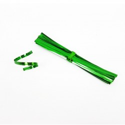 750 attaches pour sachet cellophane couleur verte - 7481