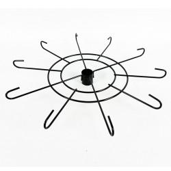 Étage en métal noir 49cm à 10 branches - 0063