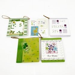 Lot de 50 étiquettes cadeaux thème nature - 7470